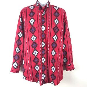 Roper Western Button Down Shirt Aztec Stripe 17 35